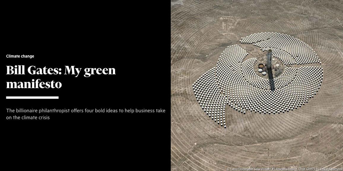 Bill Gates: My green manifesto